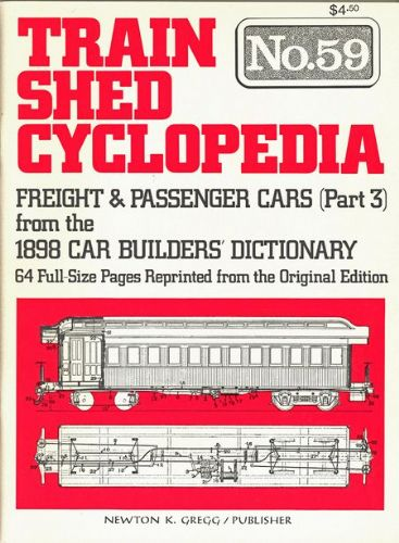 Train Shed Cyclopedia No.59: Freight & Passenger Cars (Part 3)